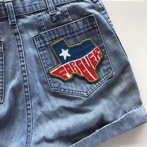 Texas Willie, Forever, Native, or Custom Chain-Stitch Embroidered Patch