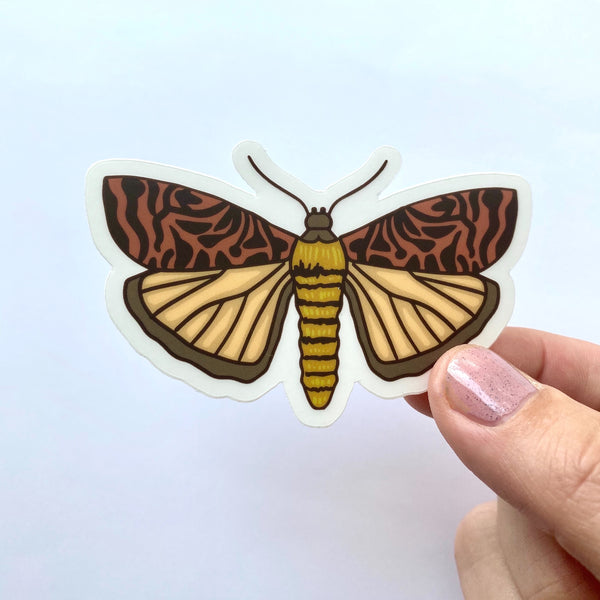 Tiger Moth Sticker