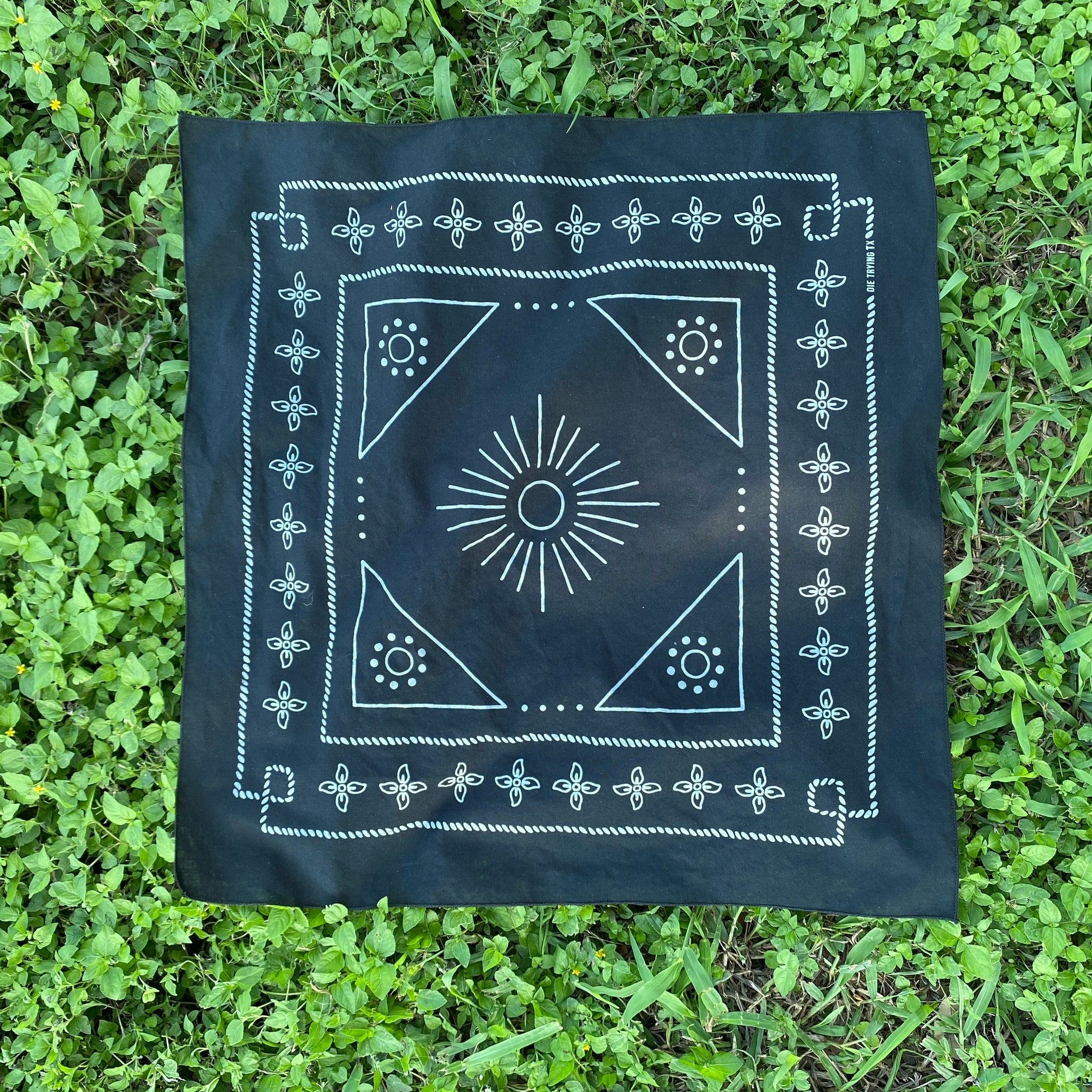 Die Trying Bandana Black