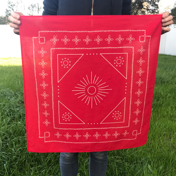 Die Trying Bandana-Classic Red