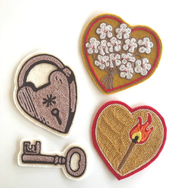 Valentine Chainstitch Patches