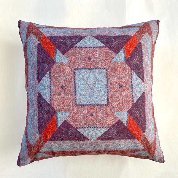 Triangles Pillow - Violet