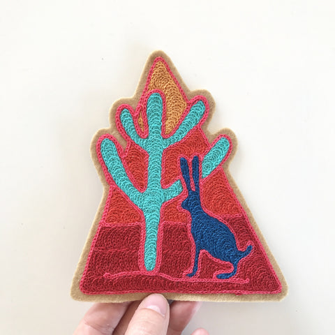 Jackrabbit Chainstitch Embroidered Patch