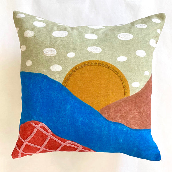 Sunny Clouds Pillow