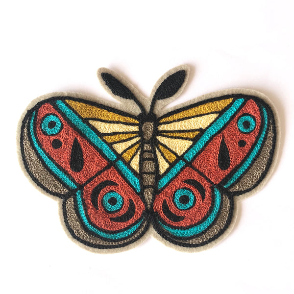 Mammoth Moth Embroidered Patch