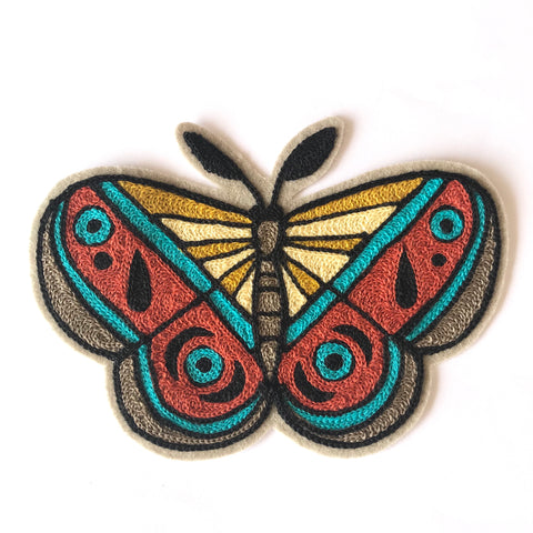 Mammoth Moth Chainstitch Embroidered Patch