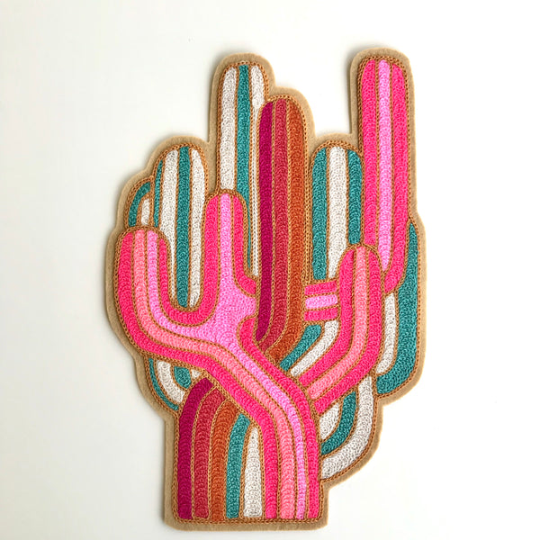 Neon Cactus Dreams Embroidered Back patch