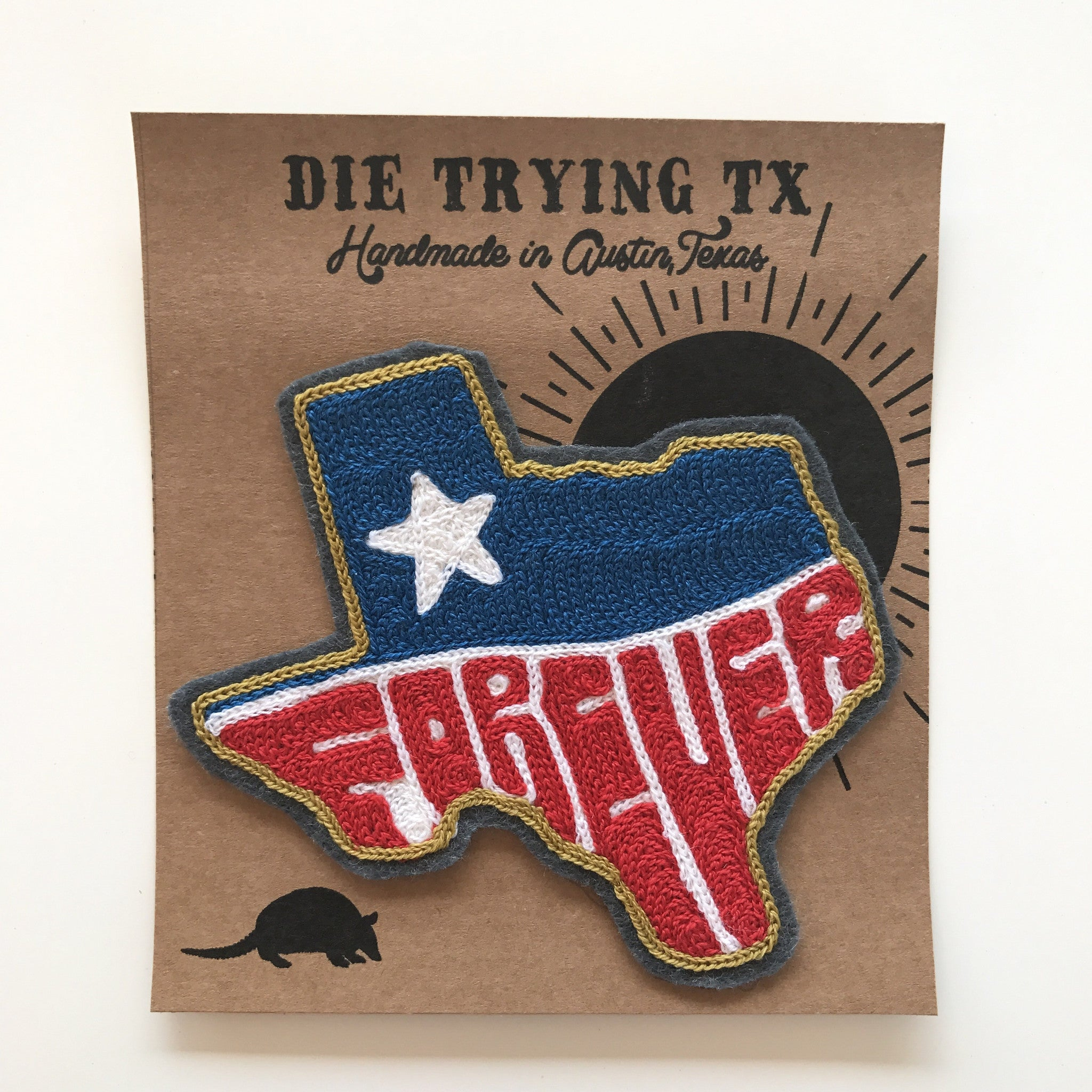Texas Willie, Forever, Native, or Custom Embroidered Patch