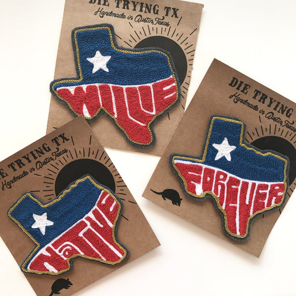 Texas Willie, Forever, Native, or Custom Chainstitch Patch