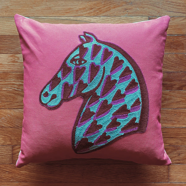 Heart Horse Pillow-Apple