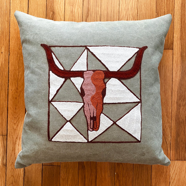 Triangle Skull Pillow