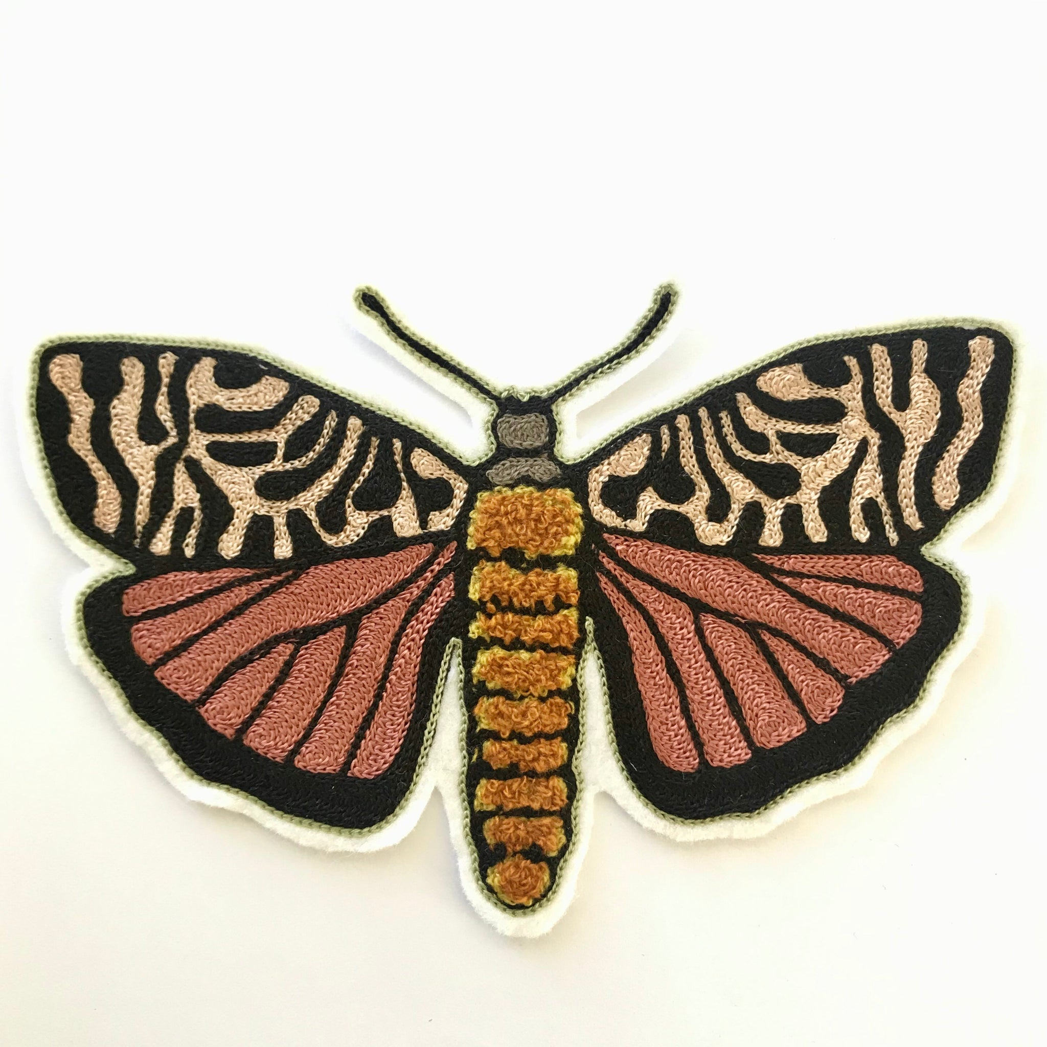 Tiger Moth Chainstitch & Chenille Patch
