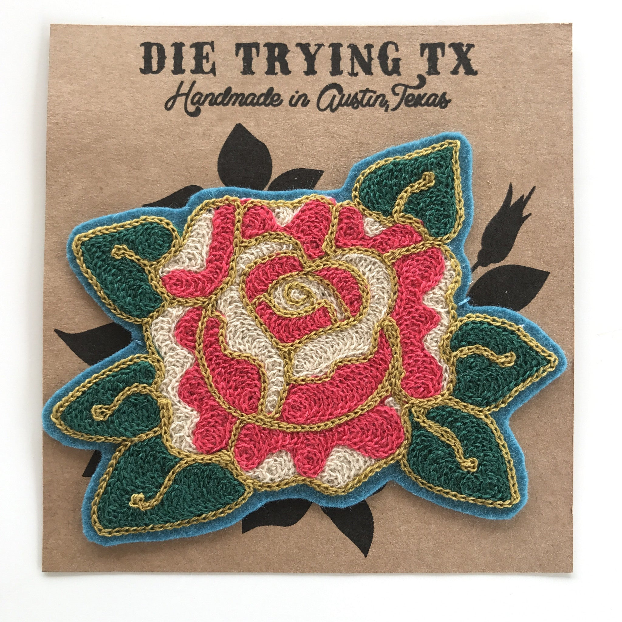 Rose Chainstitch Patch