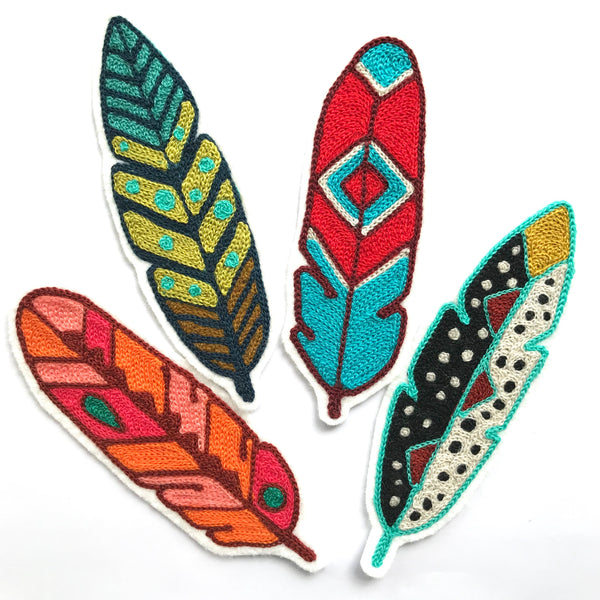 Feathers Embroidered Patches