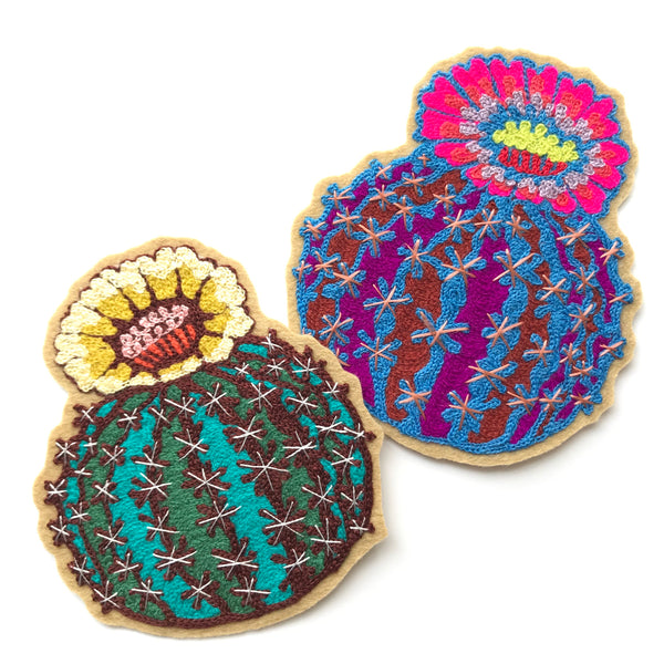 Barrel Cactus Chainstitch Patch