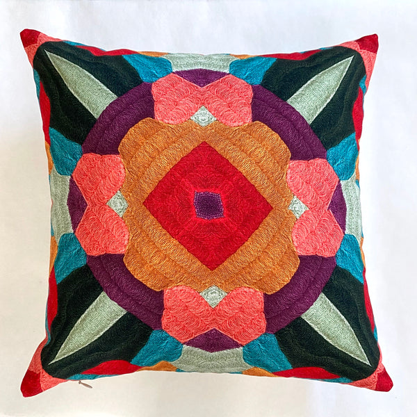 Stitched Trompe L'oeil Pillow Pink