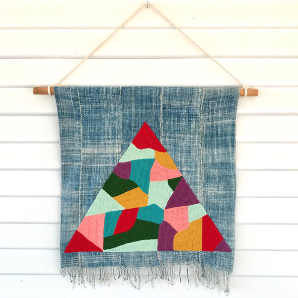 Patchwork Mountain Wall Hanging