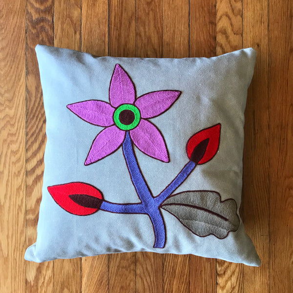 Magenta Flower Hug Pillow