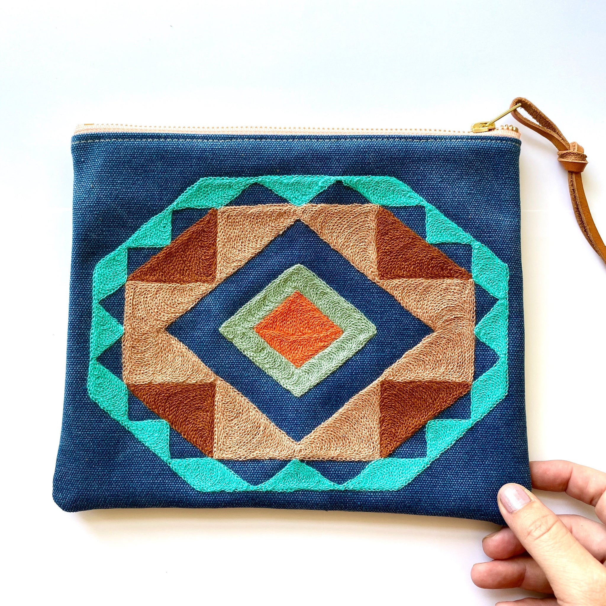 Patterned Zippered Bag