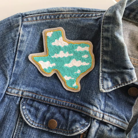Nothing But Blue Skies TX Chainstitch Embroidered Patch