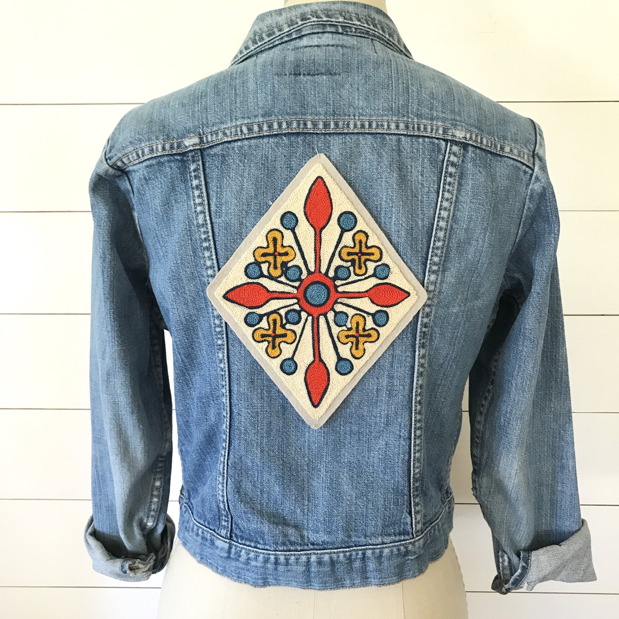 Flower Star Chainstitch Backpatch