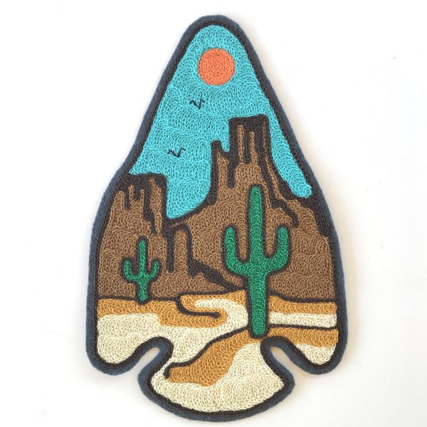 The Desert Arrowhead Embroidered Backpatch
