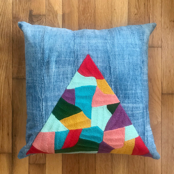 Patchwork Mountain Pillow or Wall Hanging