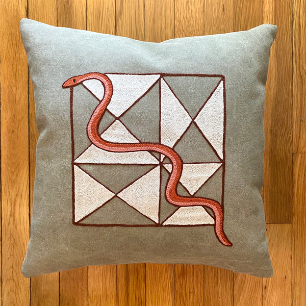 Triangle Snake Pillow
