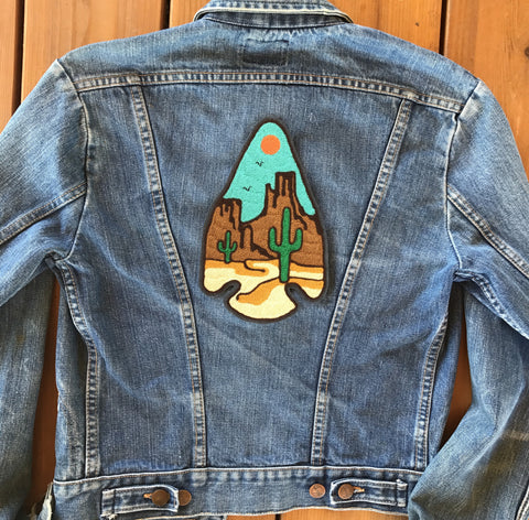 The Desert Arrowhead Chain-Stitch Embroidered Back Patch