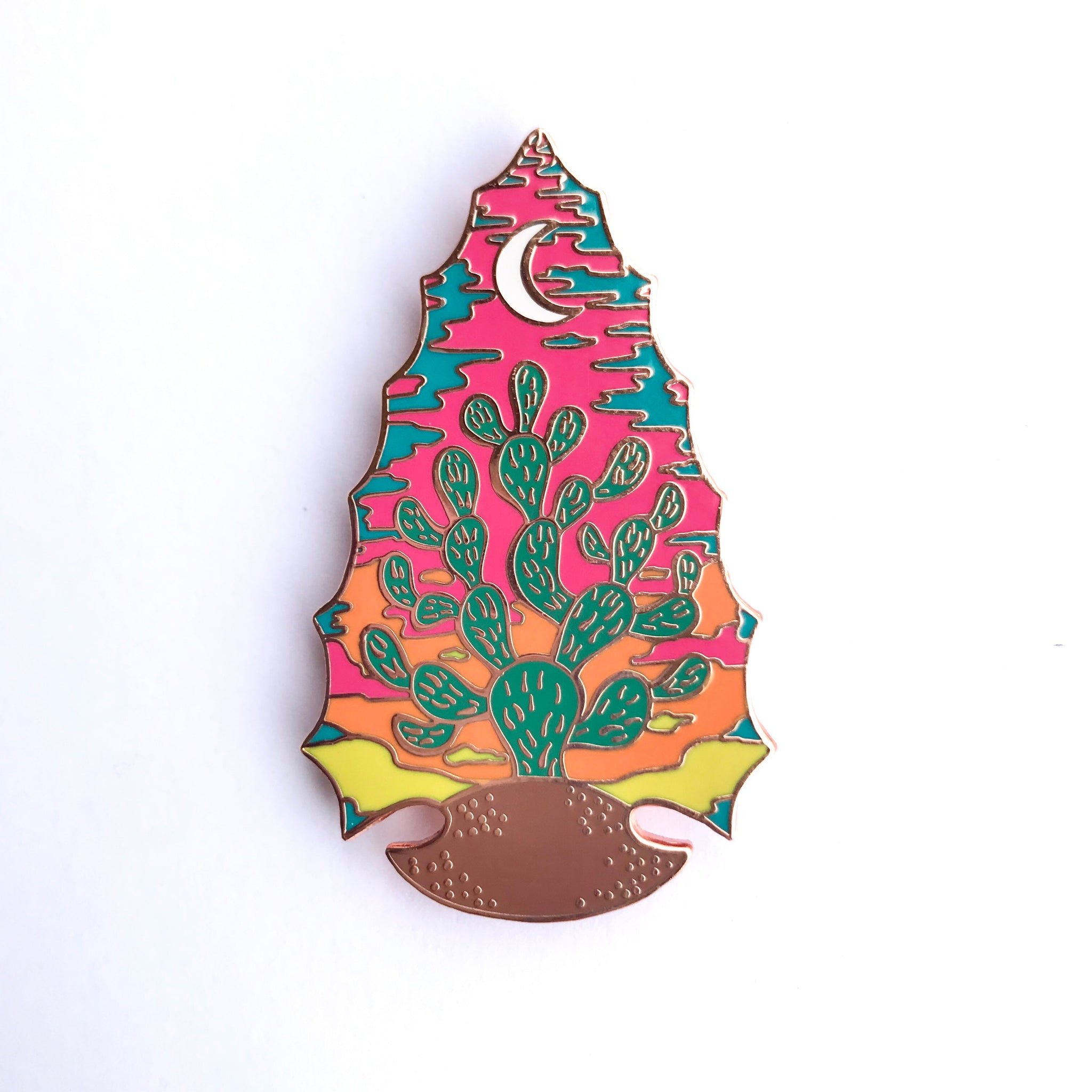 Sunset Cactus Enamel Pin