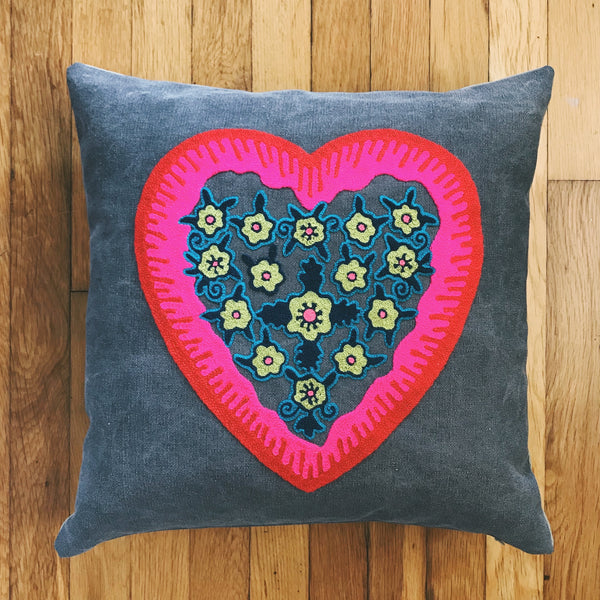 Valentine Stonewashed Pillow