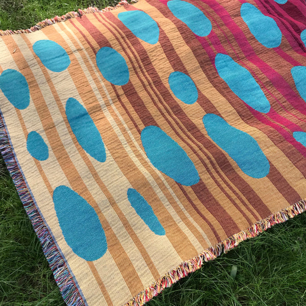 Woven Cloud Throw Blanket Red