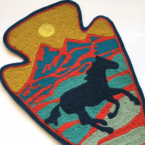 The Wild & Free Chainstitch Embroidered Back Patch