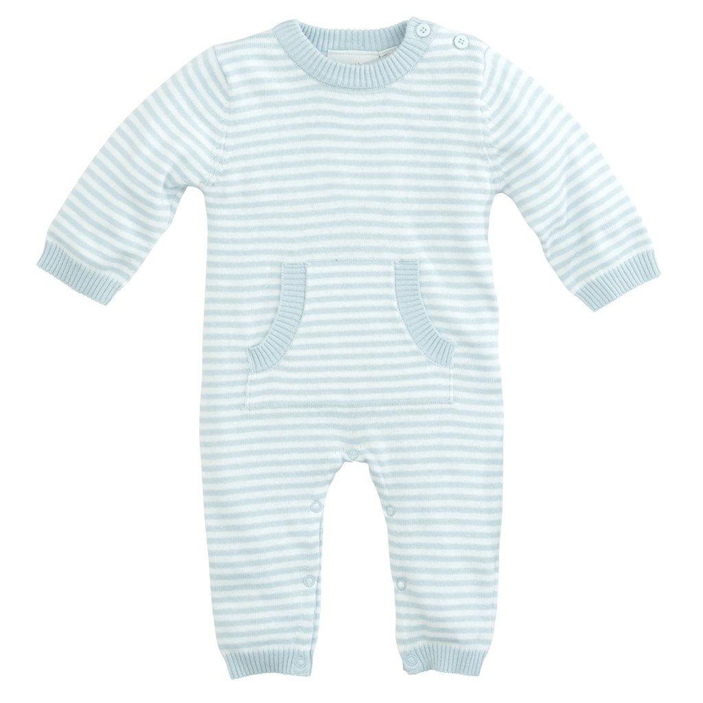 Blue Mini Stripe Jumpsuit 3-6 Months