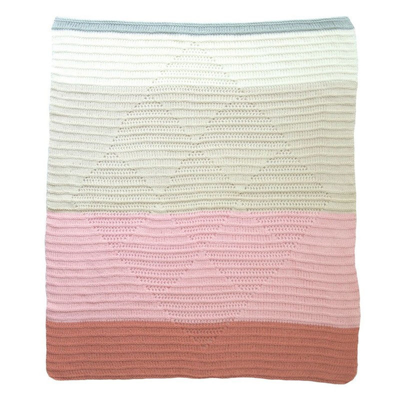 Knit Baby Blanket- Provence