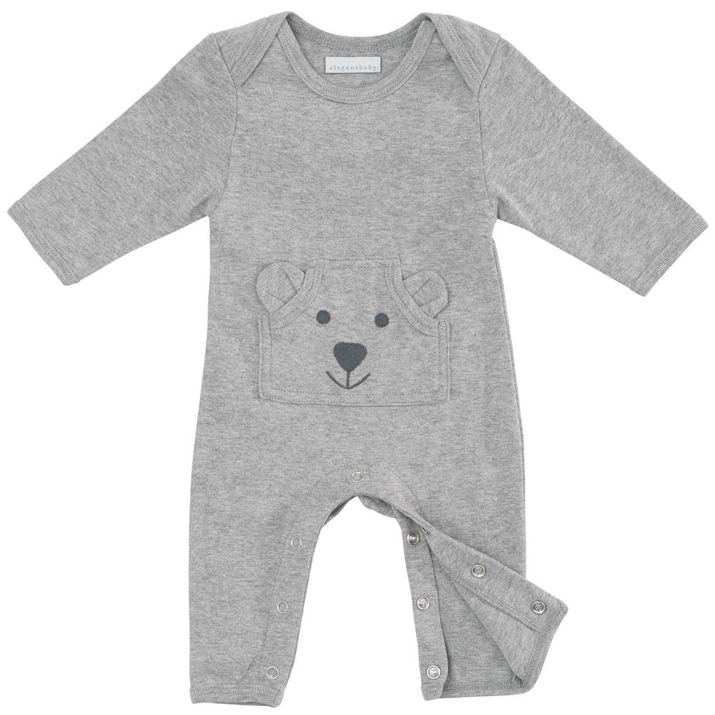 Organic Terry Coverall Gray