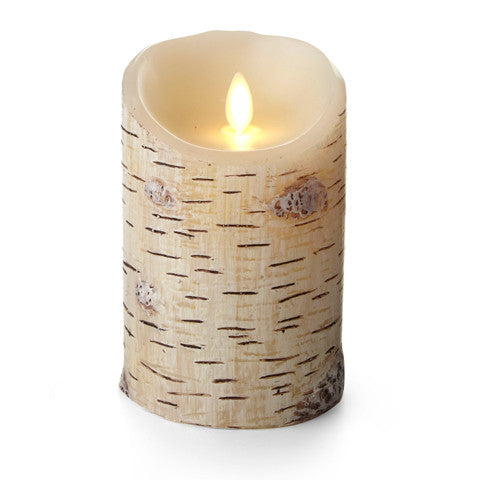 Birch Bark Pillar-5 in.