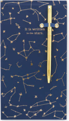 Constellations Chunky Notepad with Pen