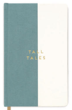 Bookcloth Journal Tall Tales Seafoam Halfsies
