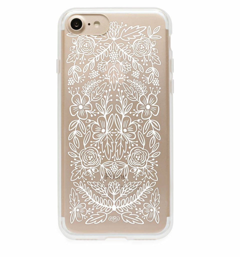 iPhone 7 Clear Floral Lace Case