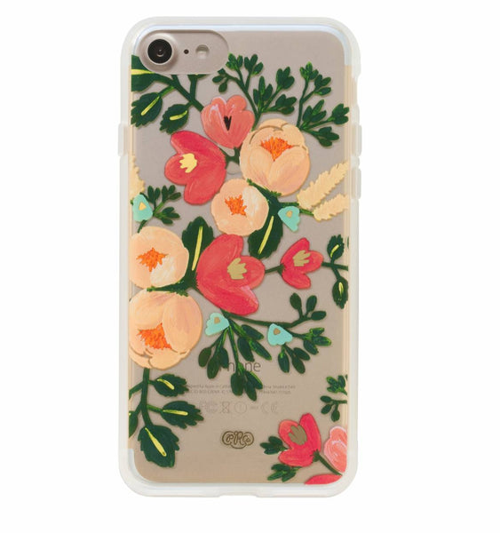 iPhone 7 & 6/6s Clear Peach Blossom Case
