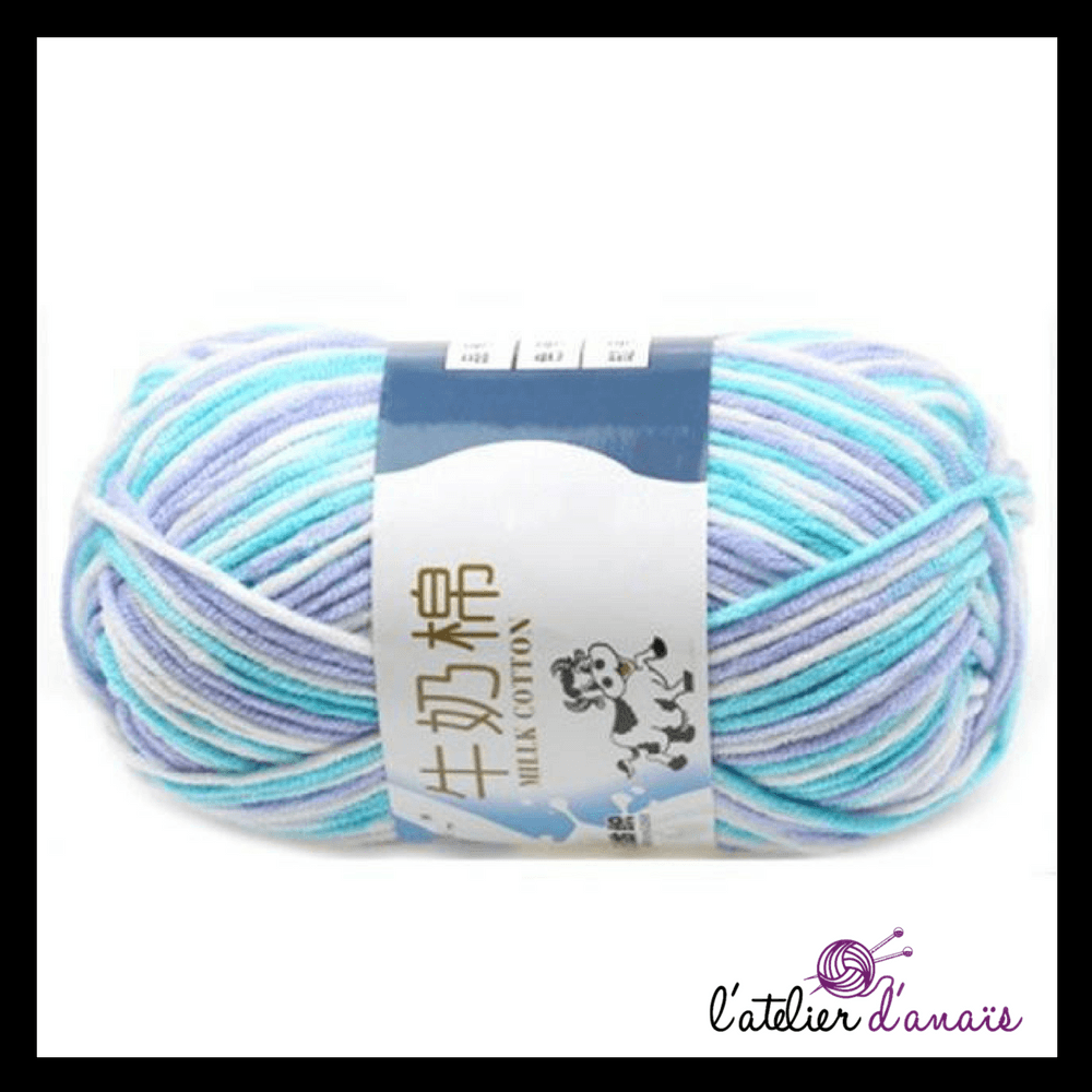 laine multicolore pelote mixte