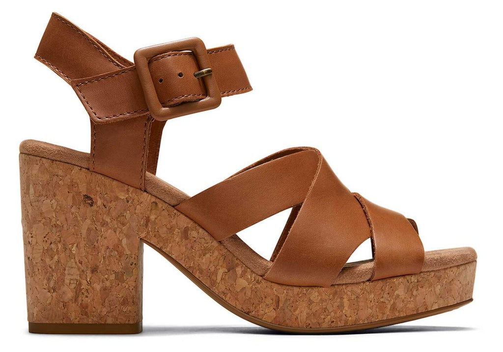 Brown Leather Ava Sandal