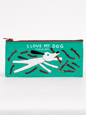 I LOVE MY DOG ZIPPER BAG PENCIL POUCH