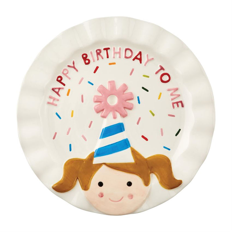 Girl Birthday Candle Plate