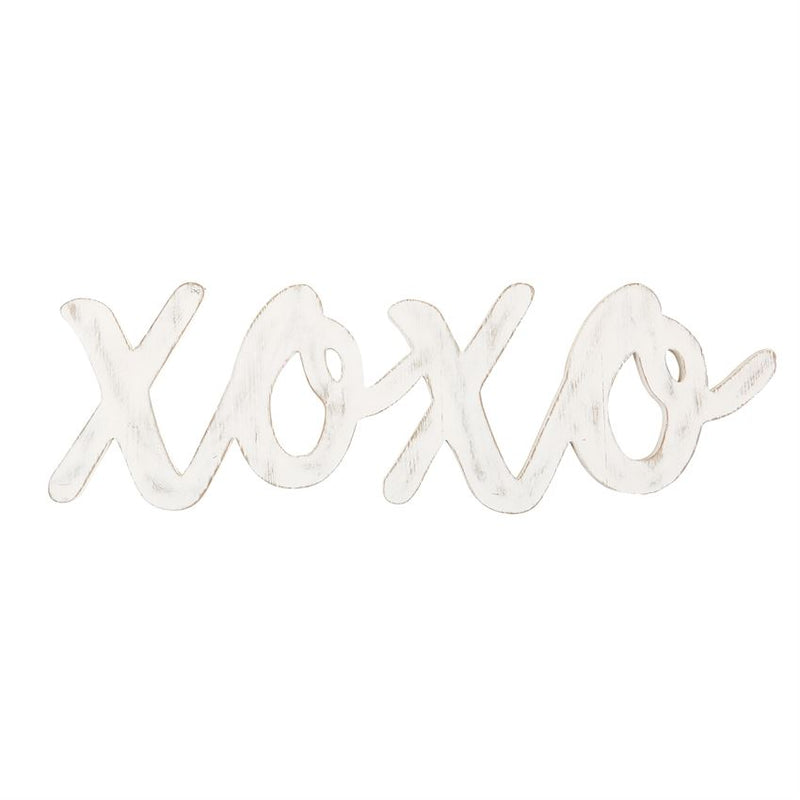 XOXO SCRIPTED WORD WOOD WALL ART