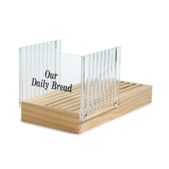ACRYLIC BREAD SLICER WITH CRUMB CATCHER