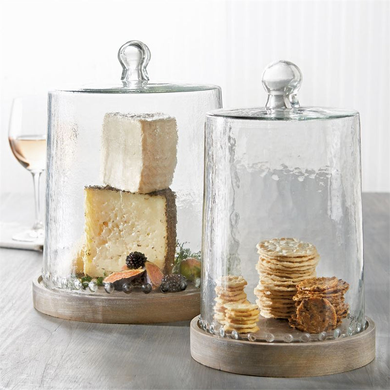 HAMMERED GLASS DOT CLOCHE SET- In store pick-up only!