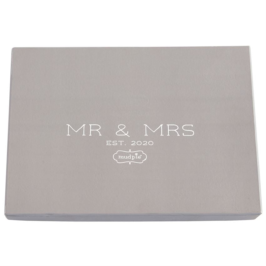 MR. & MRS. BEADED METAL PLATTER