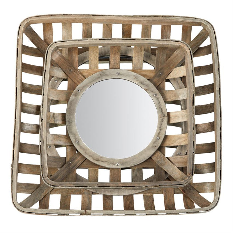 TOBACCO BASKET MIRROR SET- In store pick-up only!